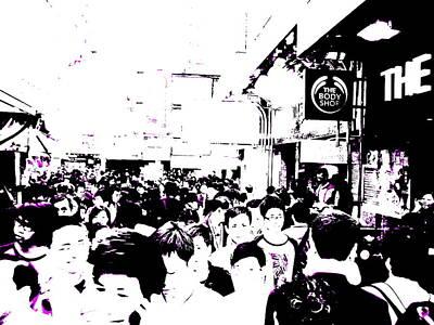 Crowds Of Hong Kong Art Print by Funkpix Photo Hunter