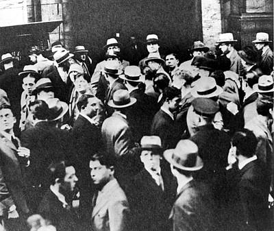 Crowds Outside The New York Stock Art Print