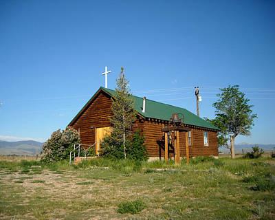 Photograph - Crowheart Church by George Jones