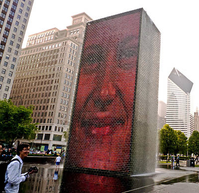 Photograph - Crown Fountain Delight Chicago  by Frank Winters