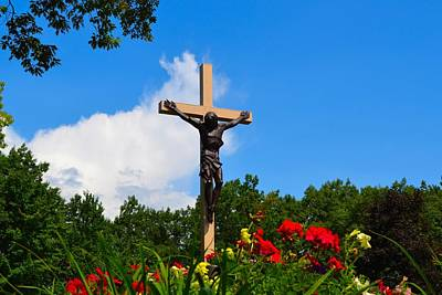 Photograph - Crucifix In Indian River by Ted Kitchen