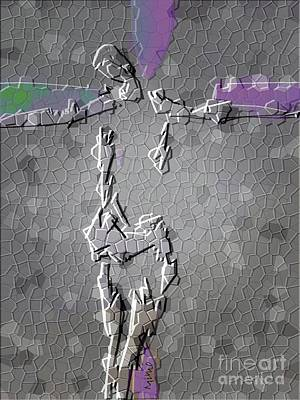 Digital Art - Crucifixion 5 by Mimo Krouzian