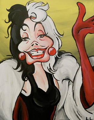Cruella Art Print by Lisa Leeman
