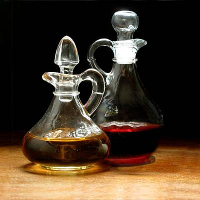 Vetro Photograph - Cruet Duet by Jan Brieger-Scranton