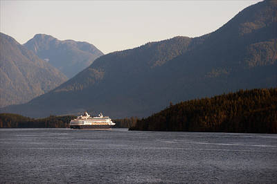 Photograph - Cruise Liner - Inside Passage by Gary Rose