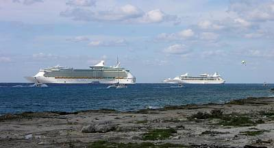 Photograph - Cruise Ships by Keith Stokes
