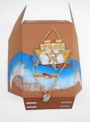 Cardboard Mixed Media - Cruise by Virginia Stuart