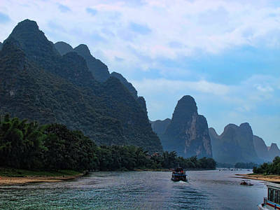 Travel Photograph - Cruising The Li River 2 by Helaine Cummins