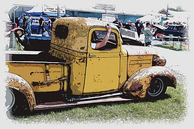 Cruising The Old Chevy Art Print by Steve McKinzie
