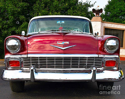 Photograph - Cruisn - 1956 Chevy by John Waclo