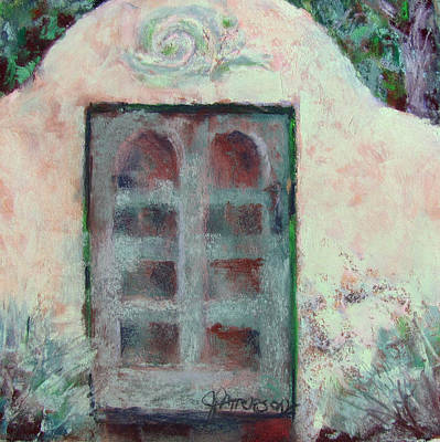 Southwest Gate Painting - Crumbling Wall by Julia Patterson