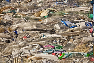 Crushed Plastic For Recycling Art Print