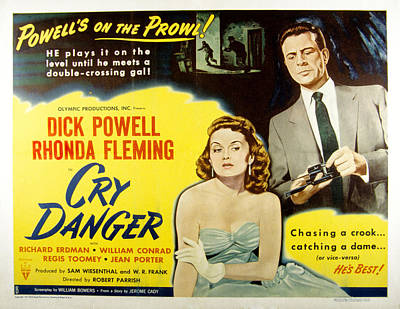 Fid Photograph - Cry Danger, Rhonda Fleming, Dick by Everett