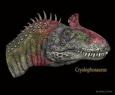 Digital Art - Cryclosaurus Dinosaur by Walter Colvin