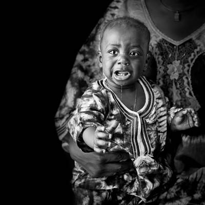 Photograph - Crying African Baby by Val Black Russian Tourchin