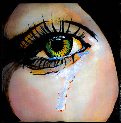 Crying Eye 2 Art Print by Chris  Leon