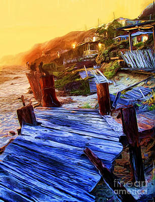 Photograph - Crystal Cove Boardwalk by Tom Griffithe
