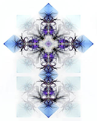 Digital Art - Crystal Cross by Francesa Miller