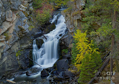 Photograph - Crystal Falls by Idaho Scenic Images Linda Lantzy