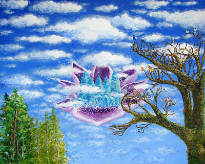Crystal Hermitage Castle In The Clouds Art Print by Ashleigh Dyan Bayer