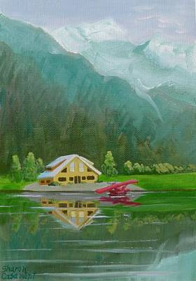 Painting - Crystal Lake Alaska by Sharon Casavant