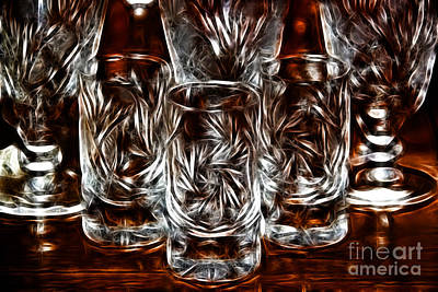Digitalized Photograph - Crystal Magic by Mariola Bitner