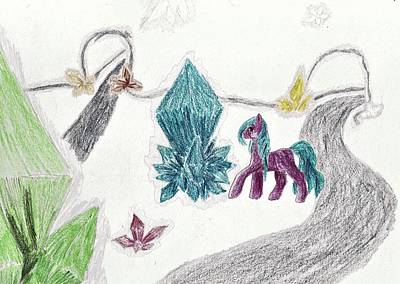 My Little Pony Drawing - Crystal Meadow by April McCallum