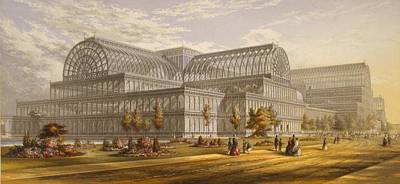 Crystal Palace During The Great Art Print by Everett