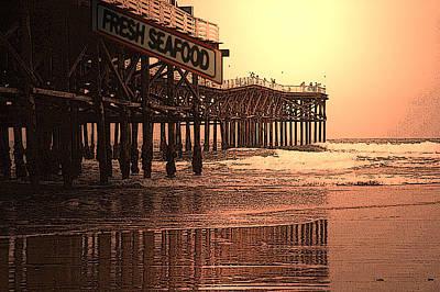 Crystal Pier  San Diego California Art Print by Richard Shelton