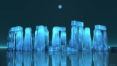 Digital Art - Crystal Stone Henge by Walter Colvin