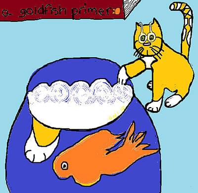 Cats Digital Art - Crystal Student Of Goldfish by Anita Dale Livaditis