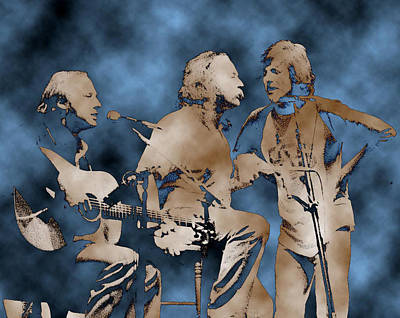 Neil Young Wall Art - Photograph - Csn - Harmonies by Dennis Jones