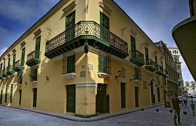 Photograph - Cuba. Corner At Obra Pia Y Oficios Streets In Havana by Juan Carlos Ferro Duque