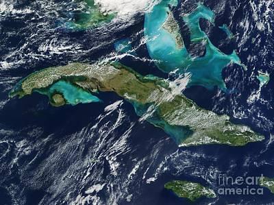True Color Photograph - Cuba by NASA / Science Source