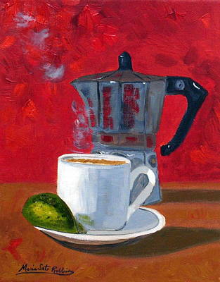 Cuban Coffee And Lime Red R62012 Art Print by Maria Soto Robbins