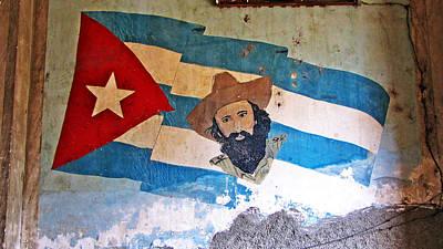 Cuban Flag Art Print by Kimberley Bennett