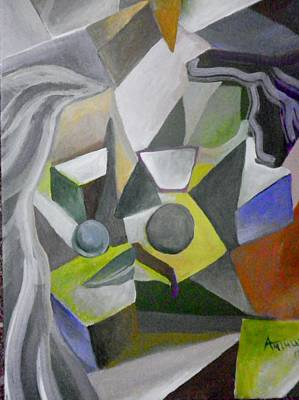Cubist Kiss Art Print by Ben Arthur