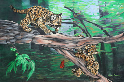 Cubs At Play Art Print