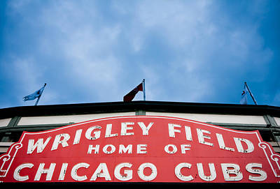 Photograph - Cubs Sign by Anthony Doudt
