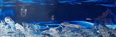 Wyland Painting - Cuda Reef by Danita Cole
