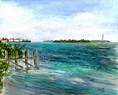 Painting - Cudjoe Bay by Clara Sue Beym