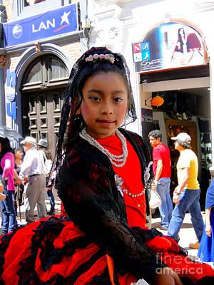 Christmas Eve Photograph - Cuenca Kids 186 by Al Bourassa