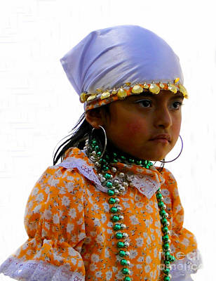 Special Necklace Photograph - Cuenca Kids 199 by Al Bourassa