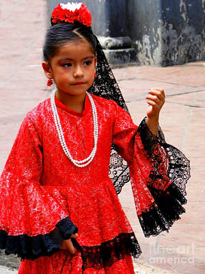Special Necklace Photograph - Cuenca Kids 209 by Al Bourassa