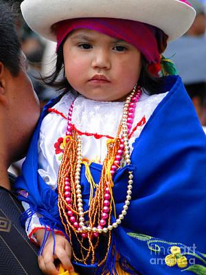 Spanish Shawl Photograph - Cuenca Kids 81 by Al Bourassa