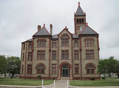 Photograph - Cuero Dewitt County Texas Courthouse by Lawrence Scott