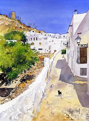 Cuesta De La Atalaya Nijar Art Print by Margaret Merry