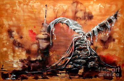 Hada Painting - Cuidar by Guillermo Padilla