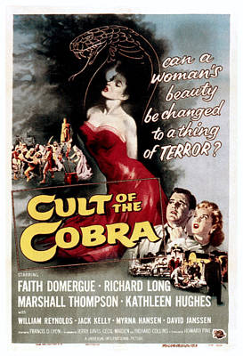 1955 Movies Photograph - Cult Of The Cobra, Marshall Thompson by Everett