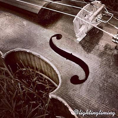 Violin Wall Art - Photograph - Culture & Texture #violin #classical by Lighting and Timing